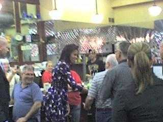 First Lady Michelle Obama had pancakes for breakfast at Pamela's Diner in Millvale.