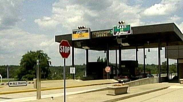 A Pennsylvania Turnpike toll booth