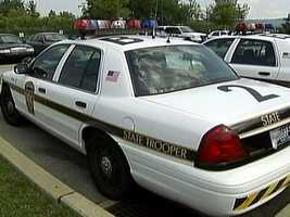 Pennsylvania State Police cruisers