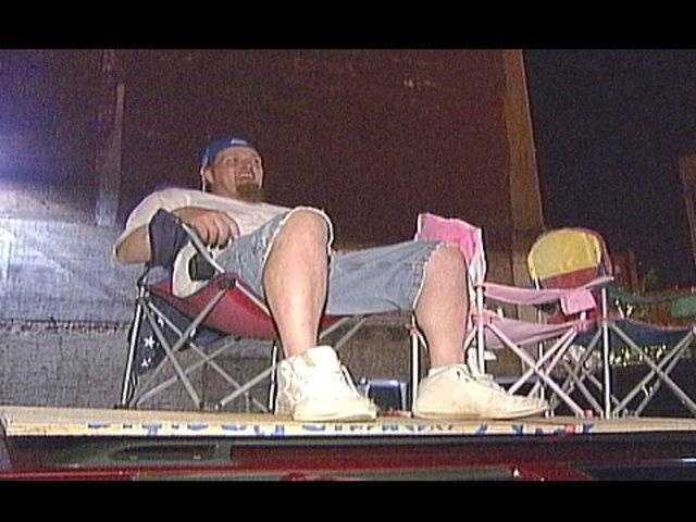 Some Pens fans were up before dawn to stake out the perfect spot to watch Monday's victory parade.