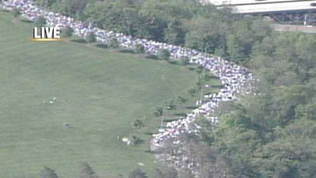 Thousands gather in Schenley Park in Oakland on Mother's Day to Race for a Cure.
