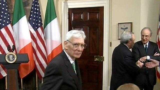 Dan Rooney is named the U.S. ambassador to Ireland during a brief ceremony at the White House.