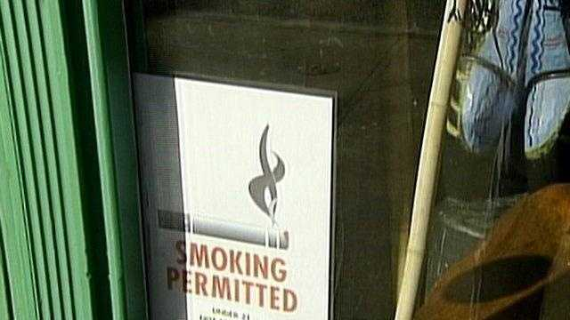 This bar is exempt from a public smoking ban under the Clean Indoor Air Act inPennsylvania.