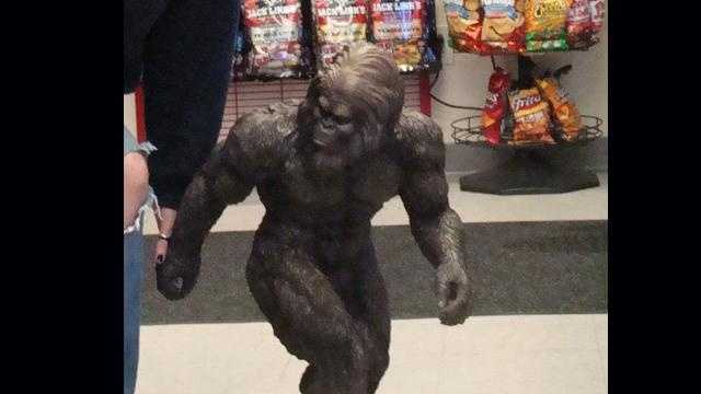 A 30-inch wood-like carving of the mythical creature was stolen from Niki's Quick Six in Kiski Township.