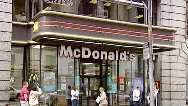 McDonald's restaurant on Smithfield Street in downtown Pittsburgh
