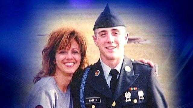 Ryan Maseth and his mother