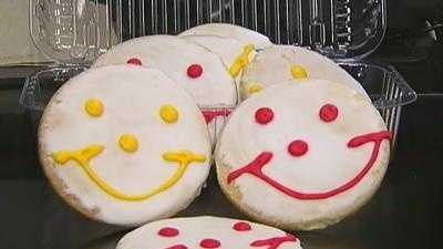 Smiley cookies from Eat'n Park
