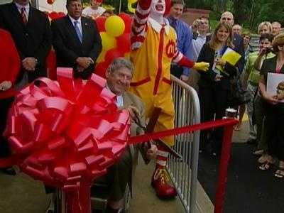 Big Mac inventor Jim Delligatti was there to cut the ribbon at the Big Mac museum in North Huntingdon.