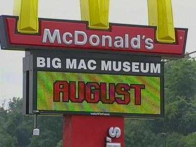 The Big Mac Museum and McDonald's restaurant in North Huntingdon.