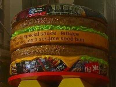 A giant replica of a Big Mac burger at the Big Mac Museum in North Huntingdon.