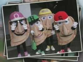 The Pirates Pierogies: Oliver Onion, Jalapeno Hannah, Cheese Chester, Sauerkraut Saul