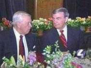 """A cancer survivor, Joe DeNardo often makes charity appearances to raise money. In 2000, he and ABC News anchor Sam Donaldson attended a """"Spirit of Hope"""" dinner to benefit the University of Pittsburgh Cancer Institute."""