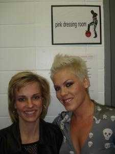 Pink meets fans at the FutureSex/LoveShow tour in Pittsburgh.