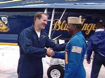 In 1999, Cowher flew with the Blue Angels.