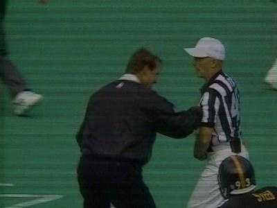 ... so Cowher got creative, stuffing a picture of a controversial play into a ref's pocket.