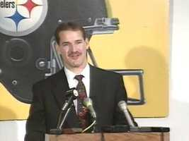 The beginning of Cowher Power: A much younger Bill Cowher takes the Steelers' head coaching job in 1992.