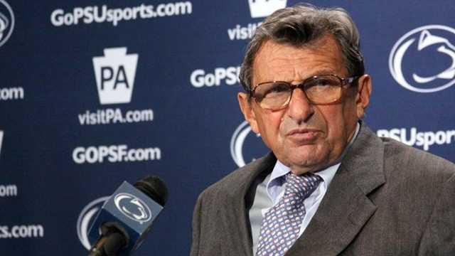 Joe Paterno at press conference