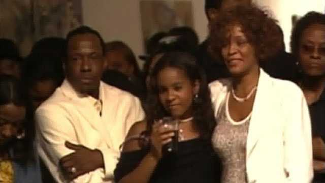 whitney houston s daughter found unresponsive in tub