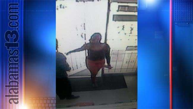 This woman is believed to have driven the getaway car, a metallic orange Mercury Grand Marquis, that is believed to have been involved in a shooting at the Triple S Convenience Store this afternoon.