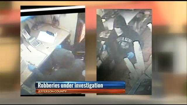 Security footage from the Irondale Jack's restaurant that was robbed Saturday.