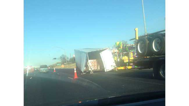 A truck caused some traffic delays in Birmingham