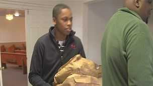 Church of the Way International handed out free turkeys on Thanksgiving.