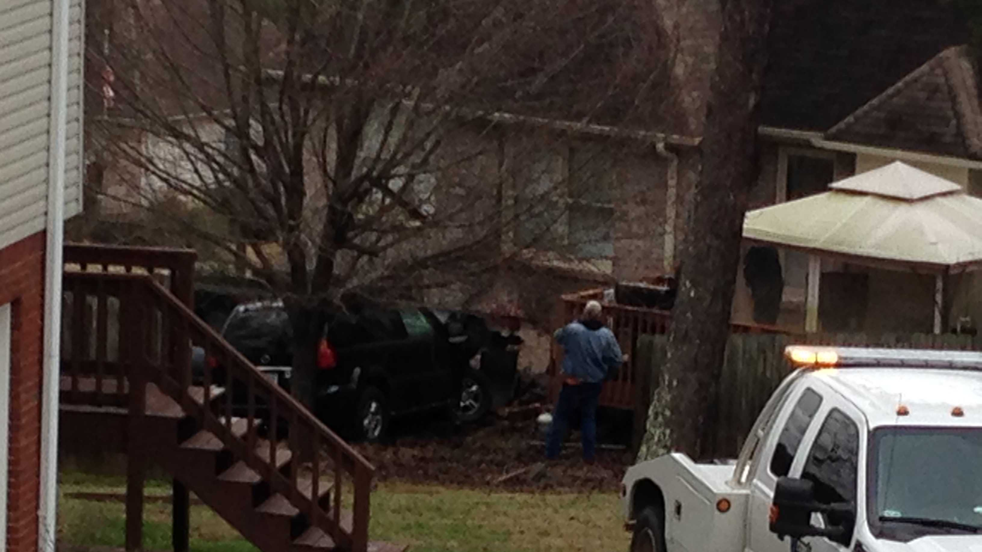 A car crashed into a home on Glen Gate Dr. in Helena.