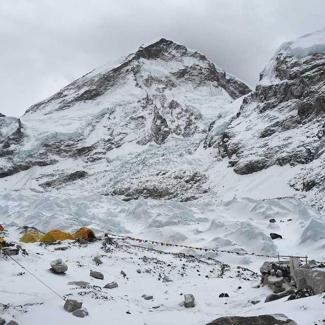 Base camp on Mt. Everest