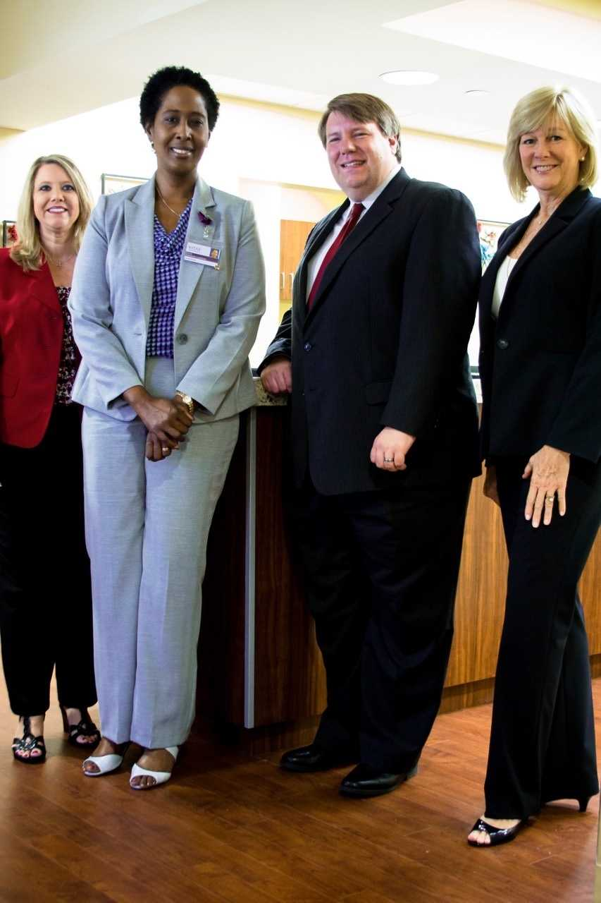 VITAS Healthcare announces the grand opening of its IPU at Shelby Baptist Medical Center, which serves as the first hospital-based IPU in Alabama. From left to right, State Representative 49th District April Weaver, VITAS General Manager Erica Edwards-Lankford, State Representative 18th DistrictMatt Fridy and VITAS Executive Vice PresidentPeggy Pettit