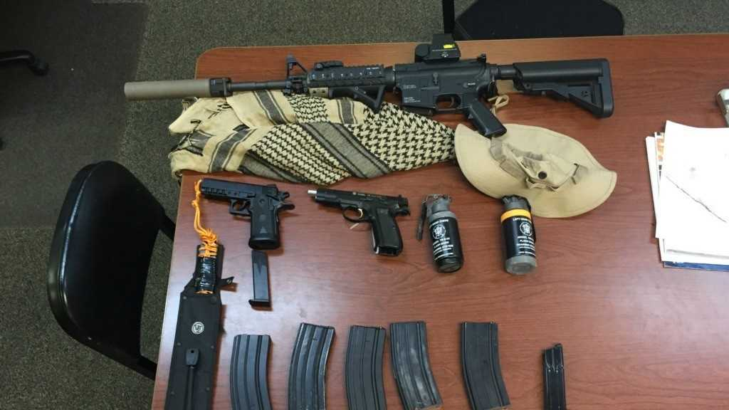 Airsoft guns and dummy grenades seized from a Hueytown teenager who told Periscope followers he had been recruited by ISIS and was planning to attack the Birmingham-Shuttlesworth International Airport.