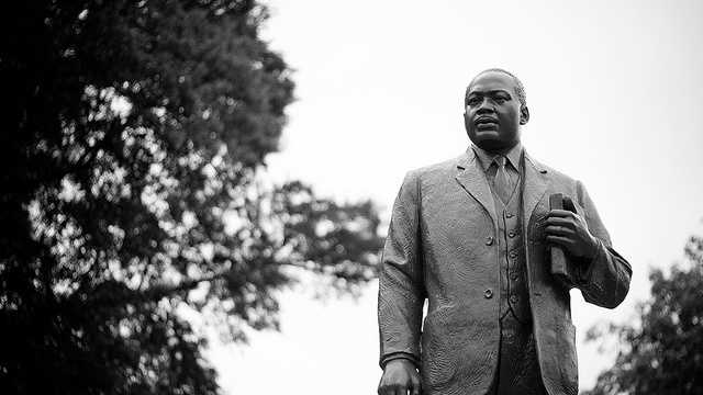 Dr. Martin Luther King Jr. statue in Kelly Ingram Park.
