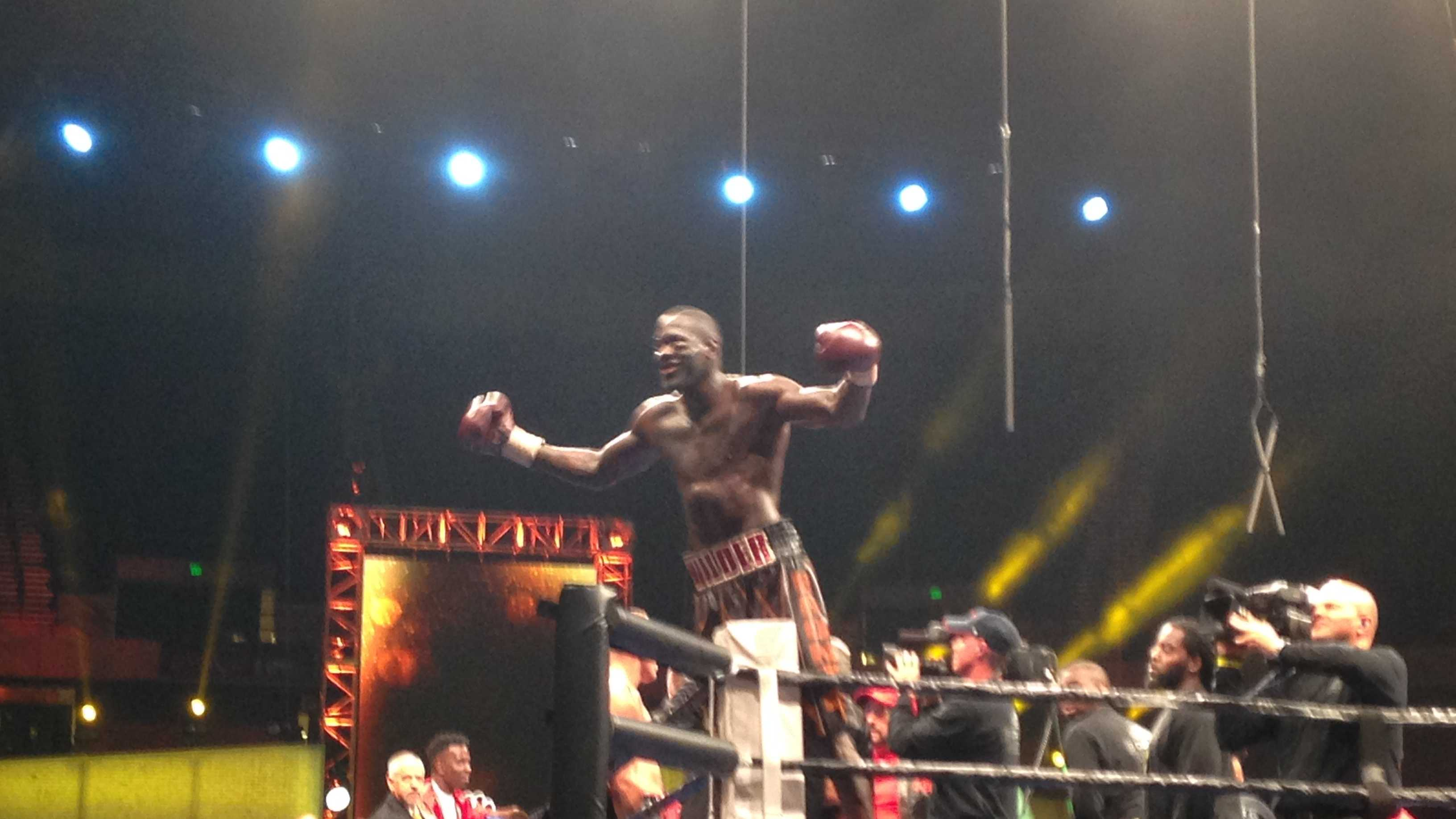 WBC Heavyweight Champion Deontay Wilder defeated Johann Duhaupas Saturday night at the BJCC Legacy Arena.