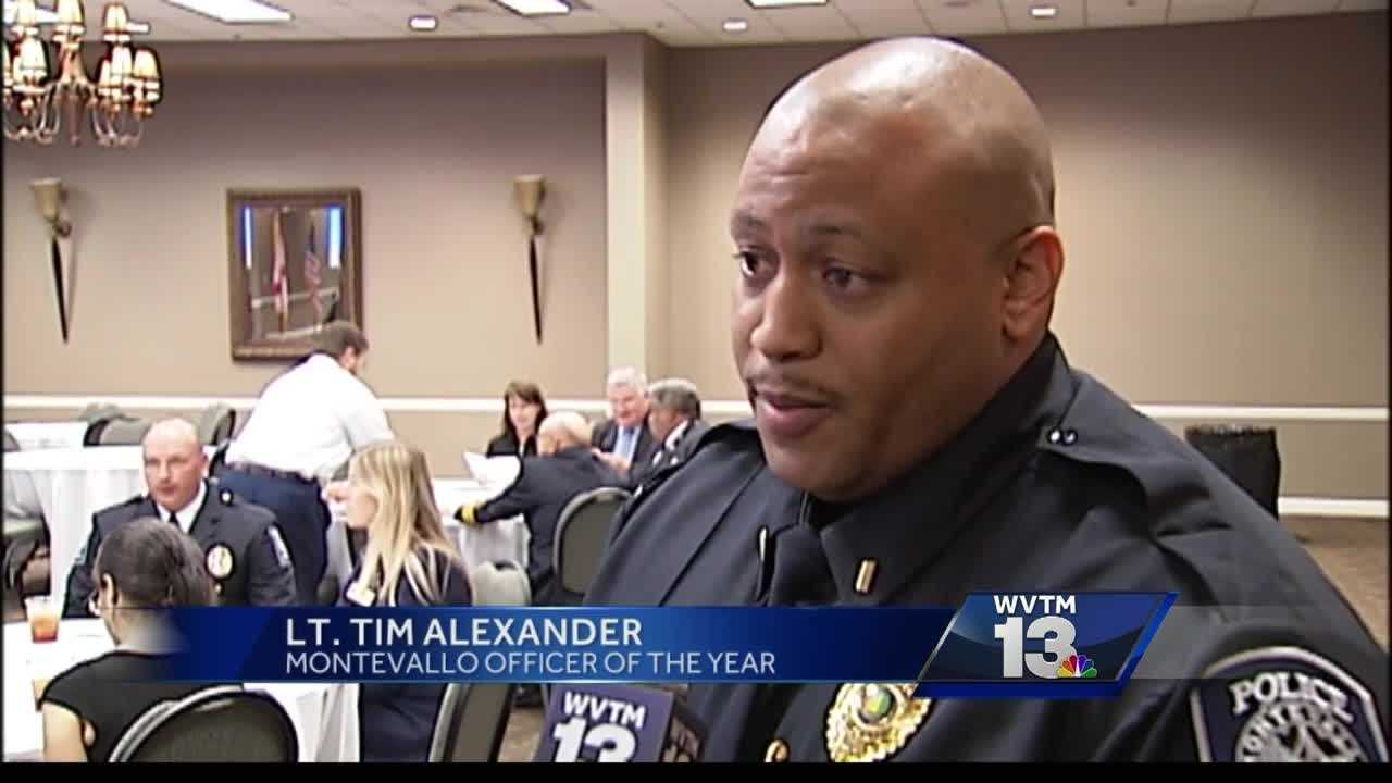 Several officers were honored Wednesday in Shelby county for heroic acts.