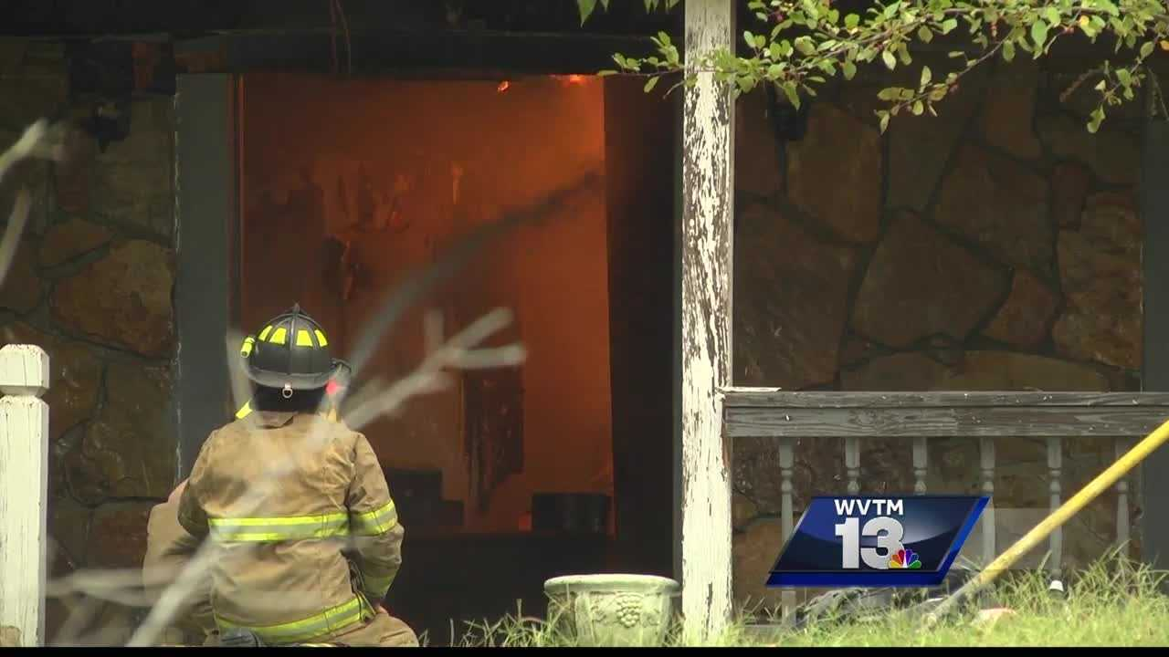A Hayden woman was able to escape safely from a fire that engulfed her home on Mountain Lake Road Friday morning.
