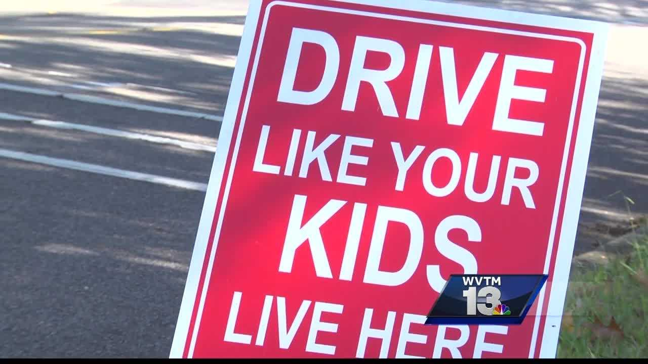 Residents who live along Carlisle Road in Birmingham are telling drivers passing through their neighborhood to slow down.