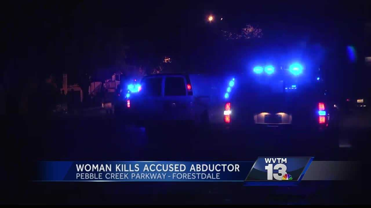 A kidnapping victim turned the tables on her attacker Tuesday night