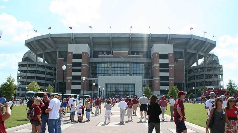 Walk of Champions at Bryant-Denny Stadium