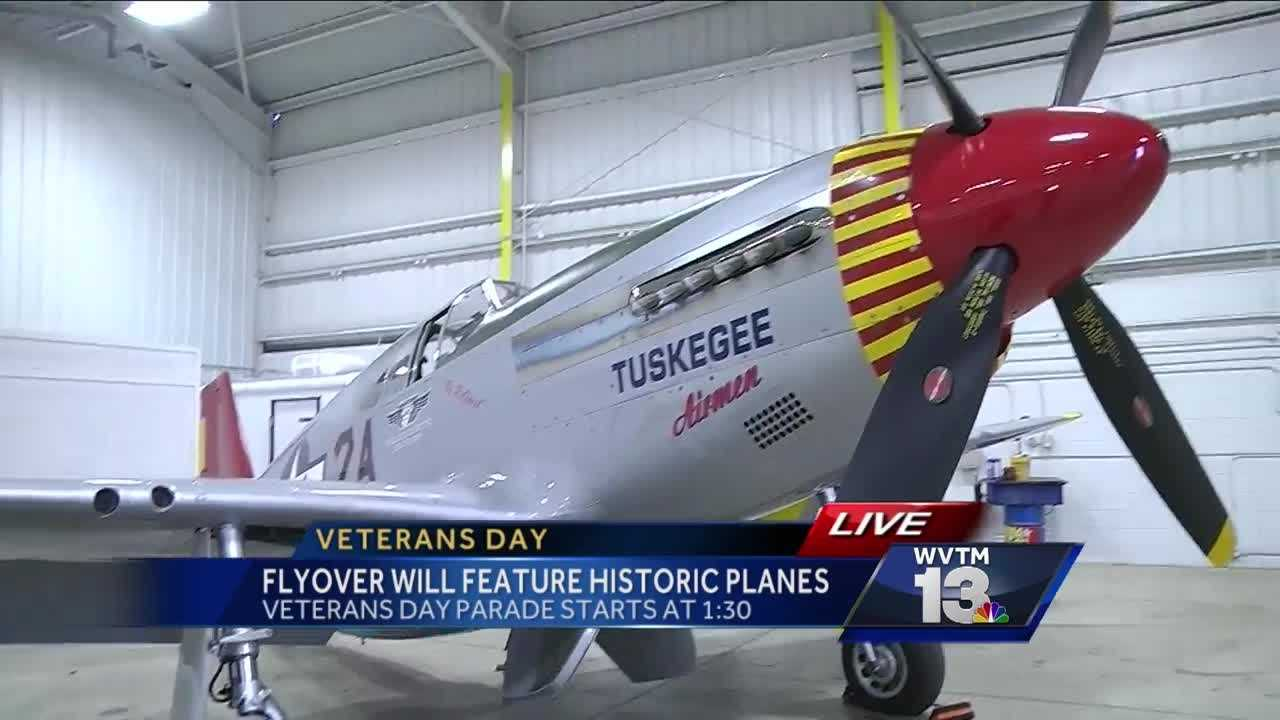"The Protective Life National Veterans Day Parade features vintage war planes. Hear from the pilot of the ""Red Tail\"" flown by the Tuskegee Airmen during World War II."