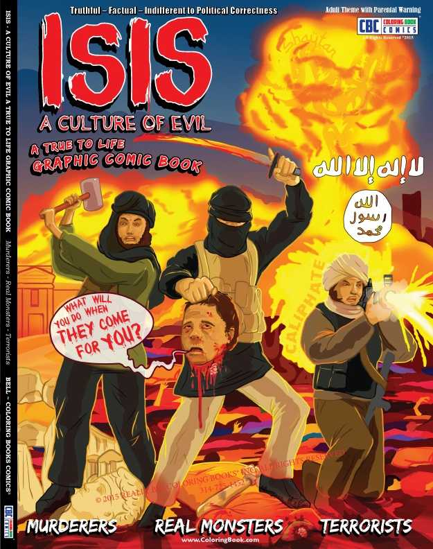 A St. Louis-based publishing company produced a graphic, coloring book depicting the brutality of ISIS.