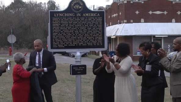 A historical marker memorializing a lynching victim was dedicated Sunday in Brighton on Sunday by Montgomery-based legal nonprofit Equal Justice Initiative.