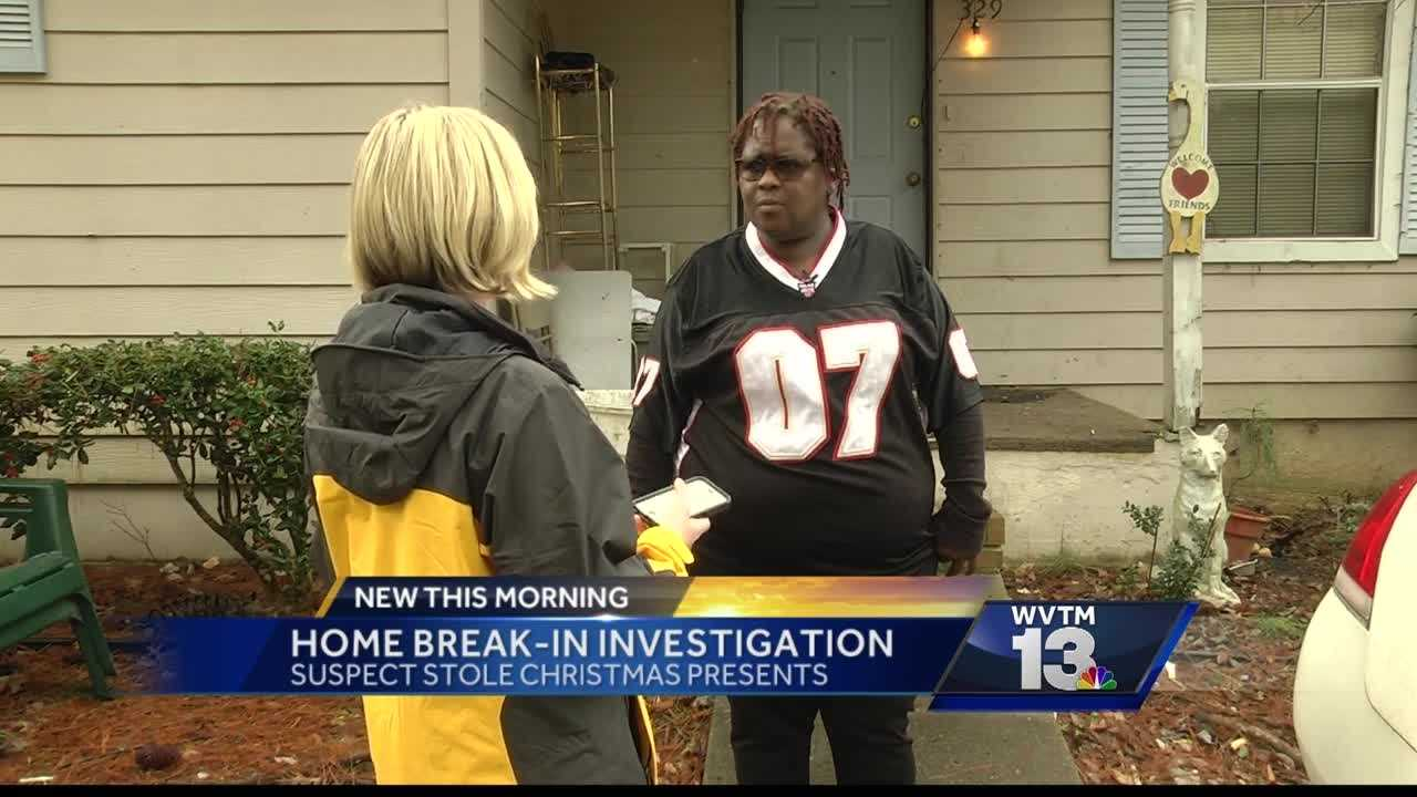 A Birmingham woman says Grinch stole children's Christmas presents during home break-in.