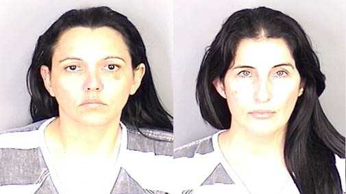Liyipsi Lopez-Lima, 34, of Hialeah, Fla., (left) and Olga Lidia Gonzalez-Diaz, 40, of Miami, Fla., (right) have been arrested after allegedly making $16,500 in fraudulent purchases at a Sam's Club store on Wednesday and Thursday. Hoover police said loss prevention employees spotted the women using stolen and cloned credit cards.