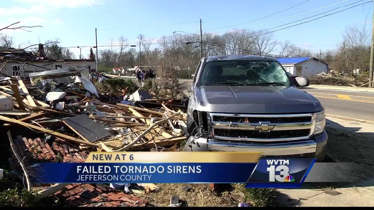 When a tornado blew through Jefferson County Christmas Day, many of the outdoor sirens failed, according to Jefferson County Commission President Jimmie Stephens.