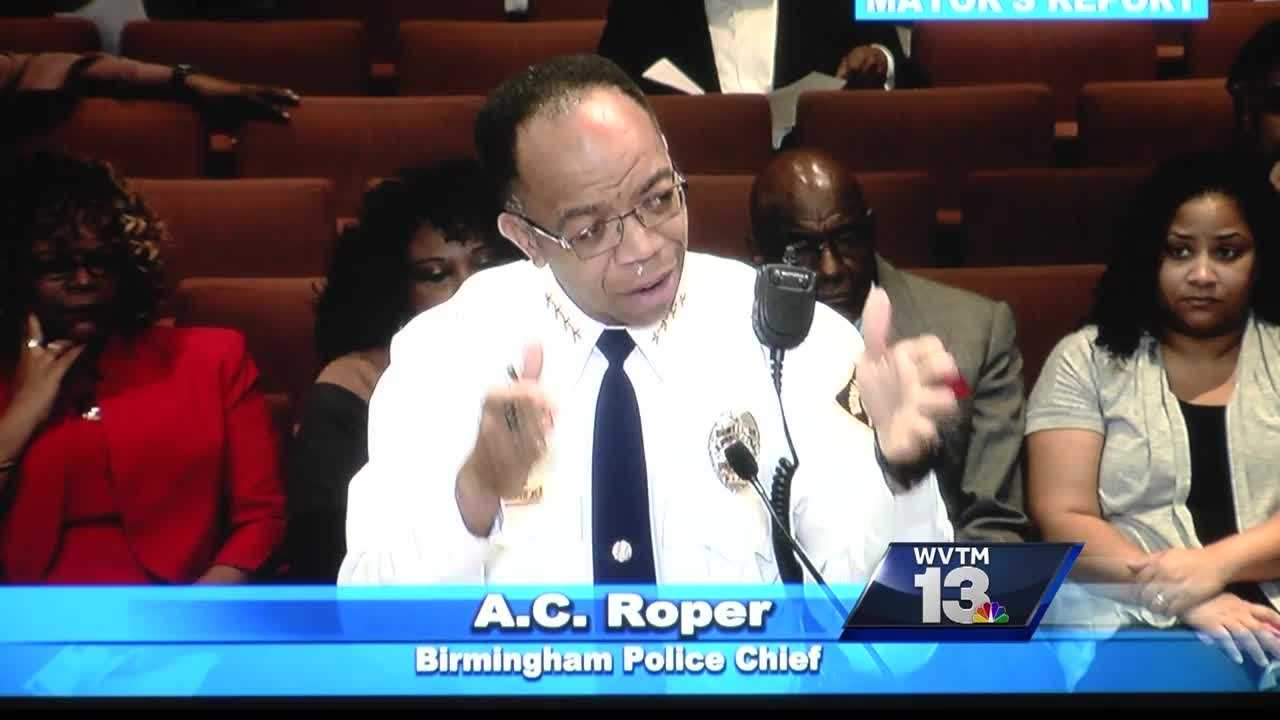 Birmingham's police chief Tuesday defended his department, while city leaders held his feet to the fire about what they call the city's growing crime problem.