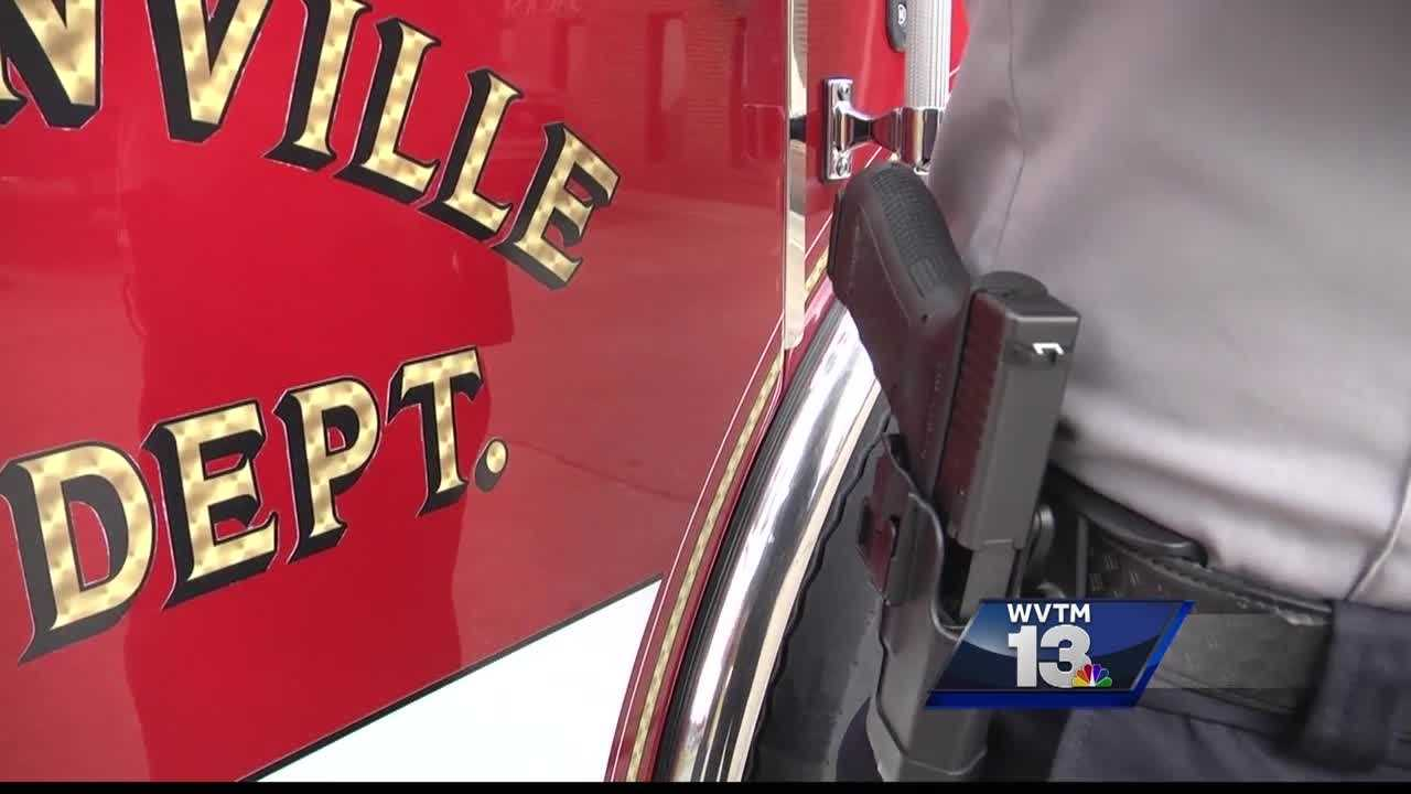 Some members of Jacksonville's fire department are now armed guns and handcuffs to stay safe.