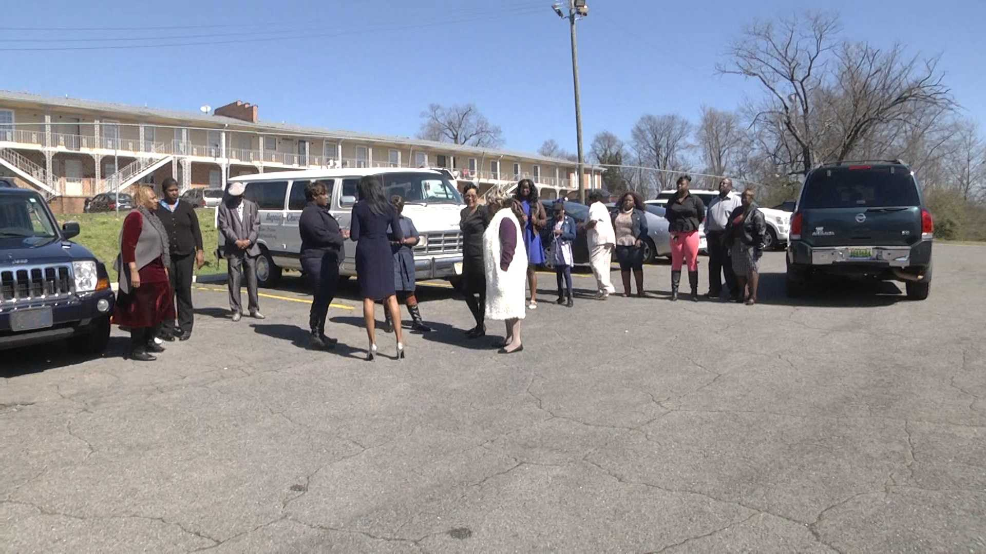 When WVTM 13 News arrived at Antioch Missionary Baptist Church on Warrior Road in Birmingham on Sunday morning, members were outside having church.