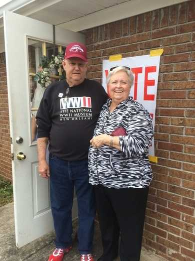 Larry and Ann Mulkin voting in Alabaster March 1, 2016.