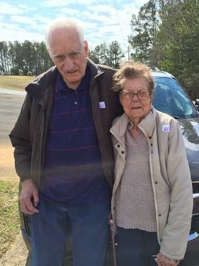 My grandparents in their 80's out voting!