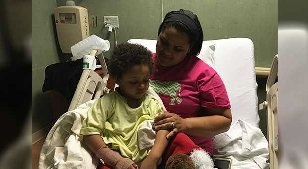 3 year old Cameron is out of surgery and doing well with his mom Courtney Jackson.