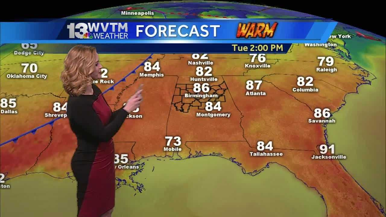 Big warm-up coming Tuesday, ahead of another rain maker.